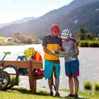 Family excursion on bike in the most beautiful weather © Saalfelden Leogang Touristik GmbH
